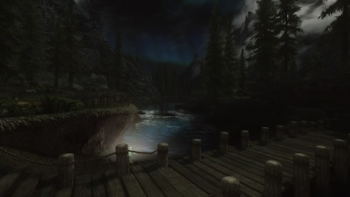 At night in Riverwood