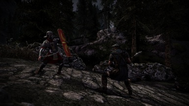 Roman legionaire vs Stormcloak heavy infantry