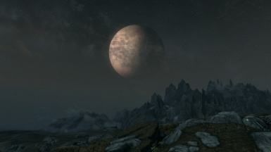 Moonrise and Mountains