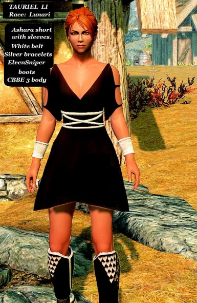 Tauriel Li in Ashara short black dress