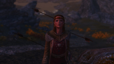 Unexpected Badass - Jarl elisif has literally arrows coming out of her ears