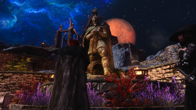 Skyrim 2014 Talos Statue in Whiterun - with mods and ENB