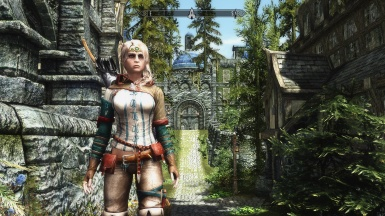 Triss armour and  City forest and landscape - Solitude