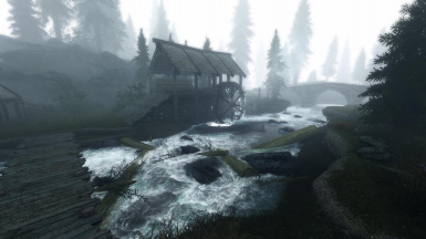 Lumber Mill and Fog
