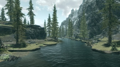 The River North of the Riverwood bridge