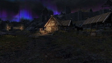 Night time in Whiterun