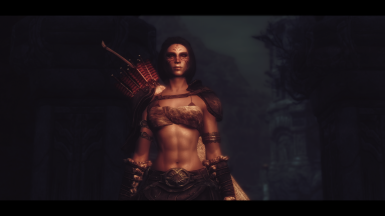 The quiet steps of a huntress among gloom and fading light