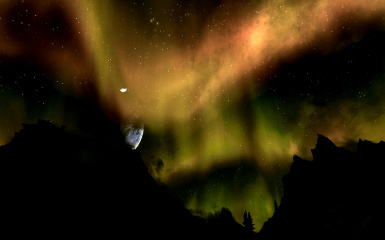 Skyrim Night Sky