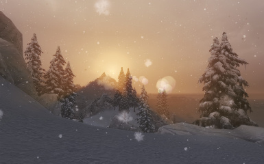 Much Better Snow With Sunset