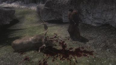 Jon Snow finds a dead Stag