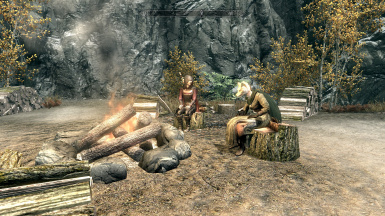 Me and Serena Hanging out with the Dawnguard
