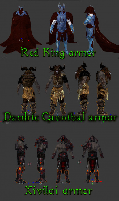 3 armor sets WIP