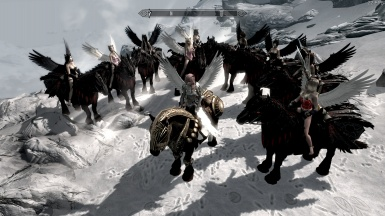 Lightning horse with followers