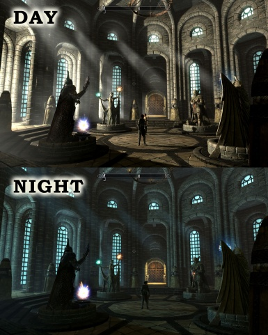 Castle Mendoza Day and Night Cycle