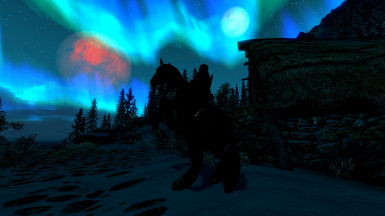 Random Pic with aurora horse and moons