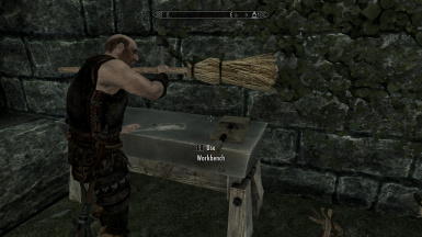I don't think that's the correct way to use a broom