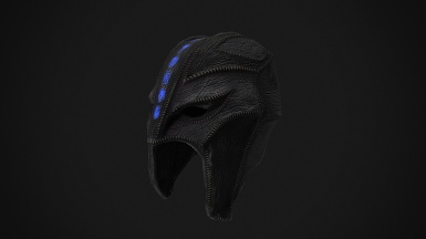 Gray cowl of nocturnal Texturing WIP