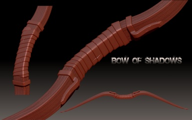 Bow Of Shadows Highpoly WIP