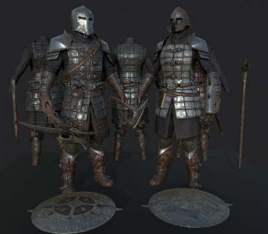 FranklyHD Dawnguard Armor and Weapons WIP