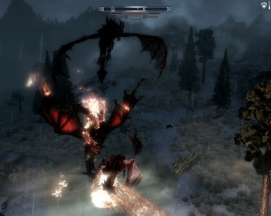 Deathwing and Odahviing are fighting with Lotsoslun