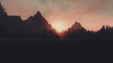 Sunset at the Riften Docks