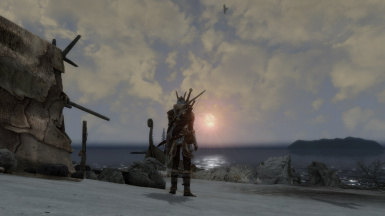 Sunset over Solstheim