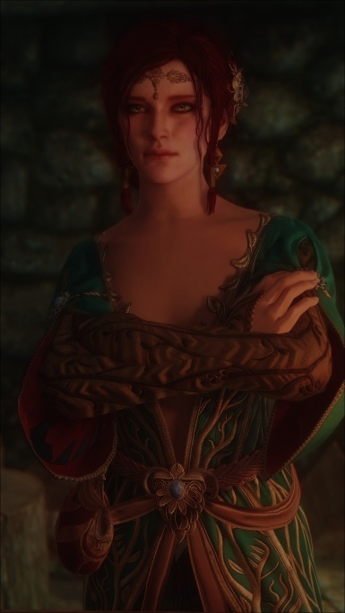 Triss DLC outfit Remake - early WIP