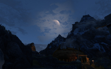 Scenery of Skyrim-Whiterun Nights 3