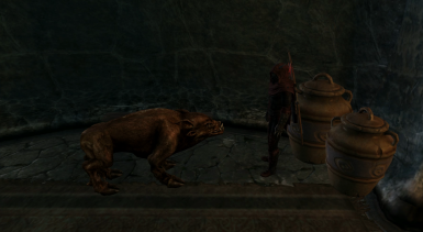 A Daedra and His Pig