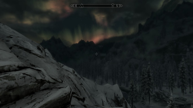 Night Time in Skyrims Mountains