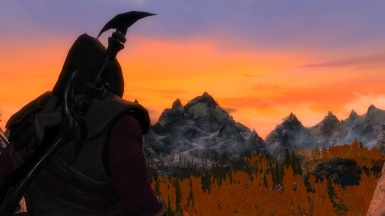 Sunset In The Mountains