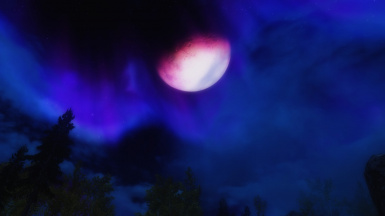 Red Moon  Blue Night