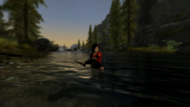 Jaqueline Searching Up River