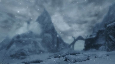 Snow and ruin