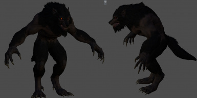 Apex Werewolf with Fur Low poly