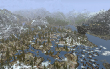 OpenCitiesSkyrim Ugrids 17 Mortal Swamp and Solitude at Day