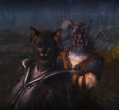 Male and female Khajiit