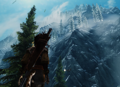 the high mountains of skyrim