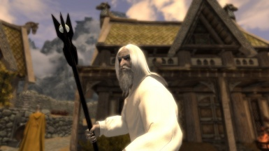 Saruman in Rob with his Staff WIP-MOD