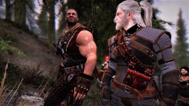 Ran into the big guy on the way to Falkreath