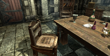 Glitched chairs in Solitude house