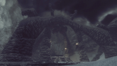 Ruins in the snow