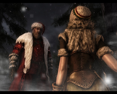 The moment with Father Christmas