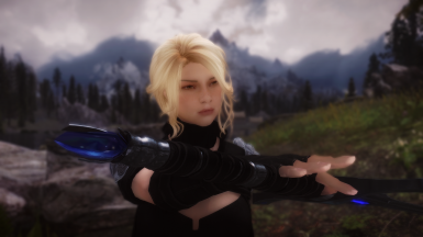 Blonde Girl of Skyrim ready to fight prt 2