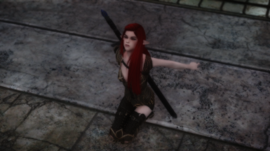 Red haired elven girl looks up to sky prt 3