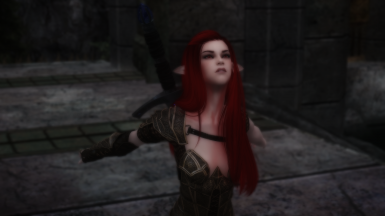 Red haired elven girl looks up to sky prt 4