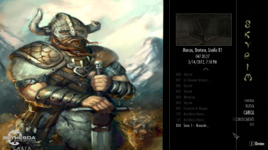 main menu - Dragonborn edition