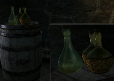 new textures skyrim bottles