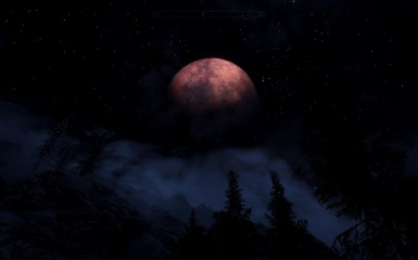 The Red Moon at Midnight