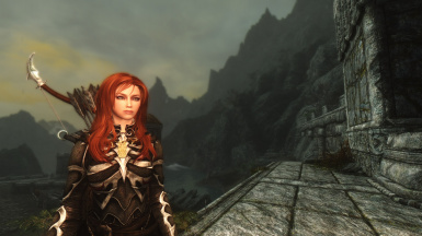 Athena in Skyrim - Outside Markarth